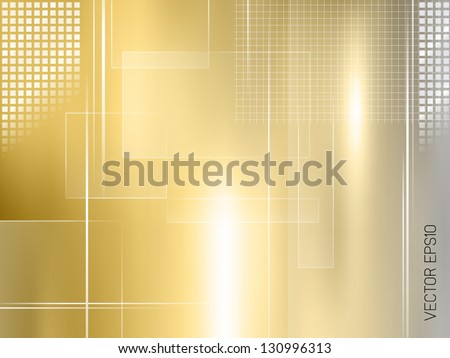 Golden background - abstract luxury design - stock vector