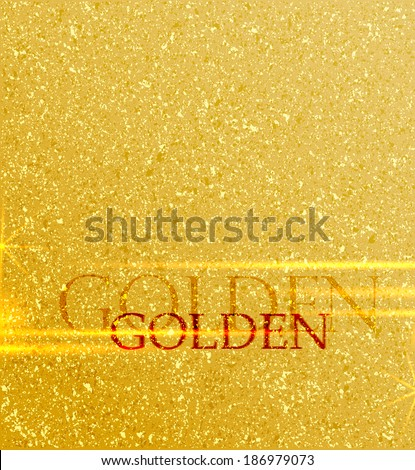 Golden background with place for text - stock vector