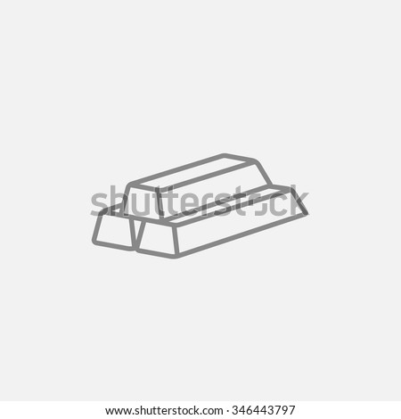 Golden bars line icon for web, mobile and infographics. Vector dark grey icon isolated on light grey background. - stock vector