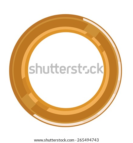 Golden Circular Bevel Frame to be used in any advertising design project or logo. Editable EPS10 vector and jpg illustration. - stock vector