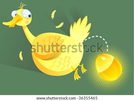 golden egg - stock vector