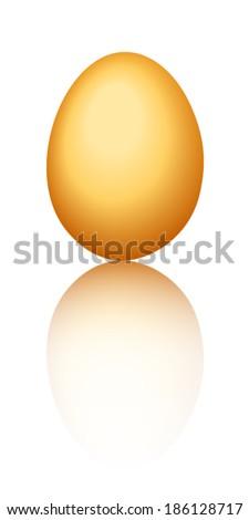 Golden egg. Vector eps-10. - stock vector