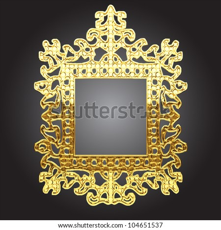 golden frame made in vector - stock vector