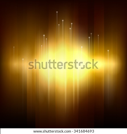 Golden light background - stock vector