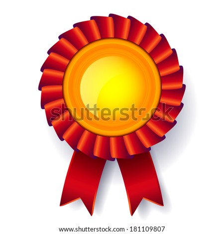 Golden Medal reward vector - stock vector