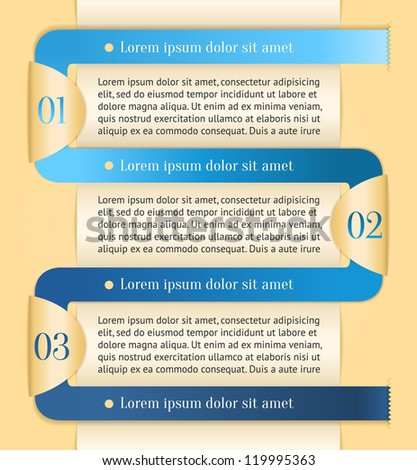 Golden modern color design template with blue stripe. Can be used for infographics, presentation, promotion... - stock vector