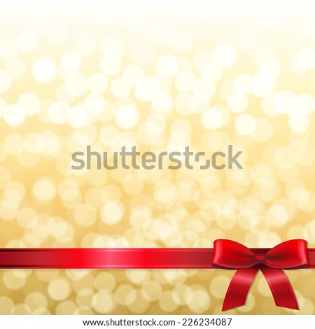 Golden New Year Card With Gradient Mesh, Vector Illustration - stock vector