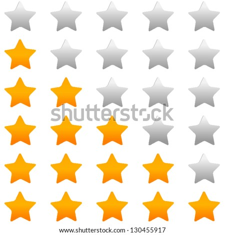 Golden rating stars - stock vector
