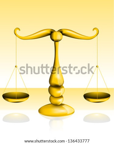Golden scales of justice eps10 - stock vector