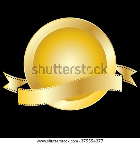 Golden Seal . Vector Golden Seal . - stock vector