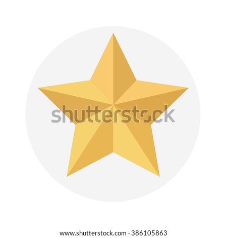 Golden star isolated on white background - stock vector