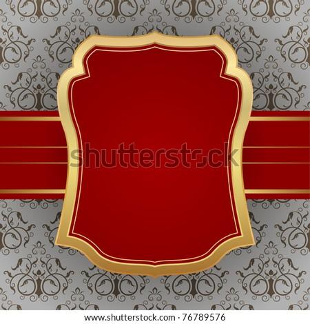 golden vintage frame - stock vector