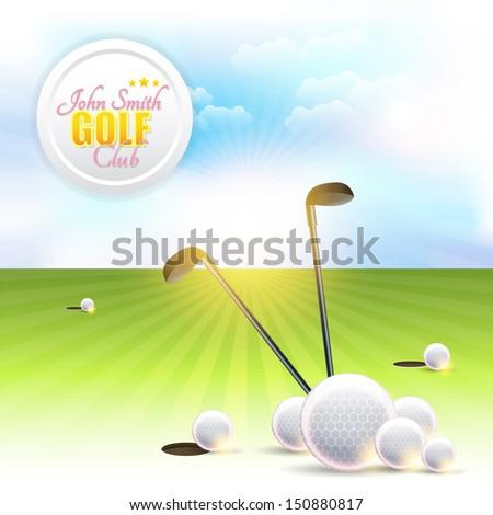 Golf Background Vector Design - stock vector