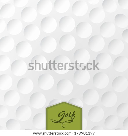 Golf backgrounds. Realistic rendition of golf ball texture closeup.EPS 10 - stock vector