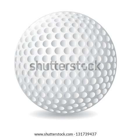 golf ball over white background. vector illustration - stock vector