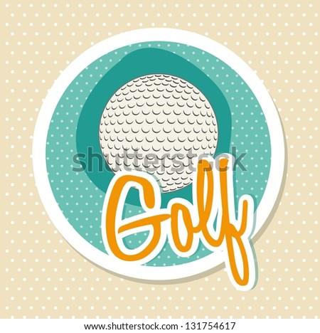 golf ball over white background. vector illustration - stock vector