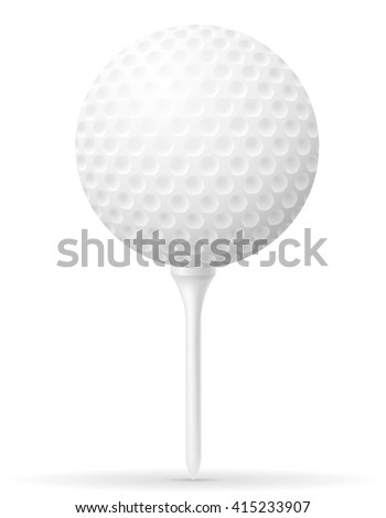 golf ball vector illustration isolated on white background - stock vector