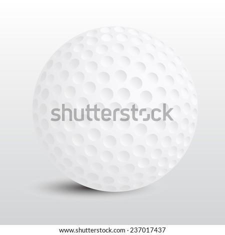 Golf ball vector on gray background - stock vector