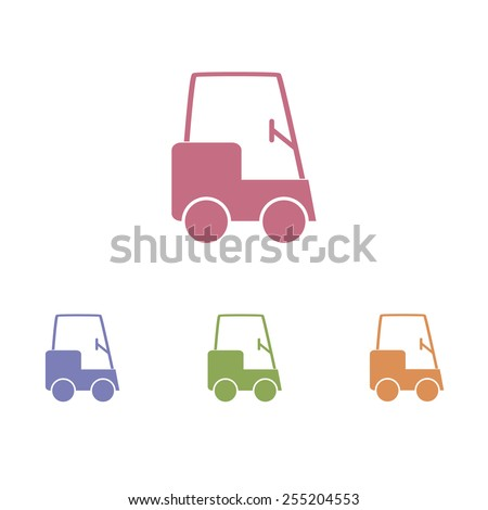 Golf cart icons - stock vector