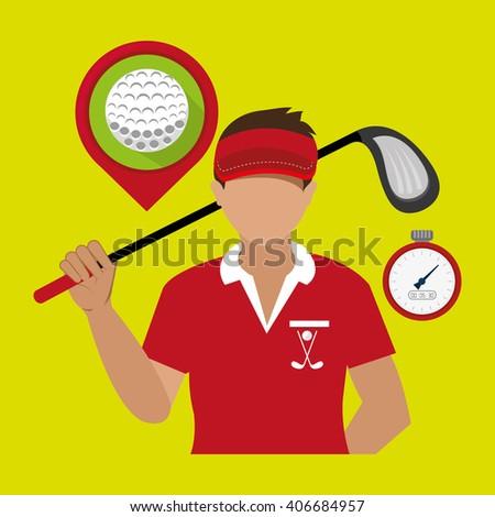 golf championship design  - stock vector