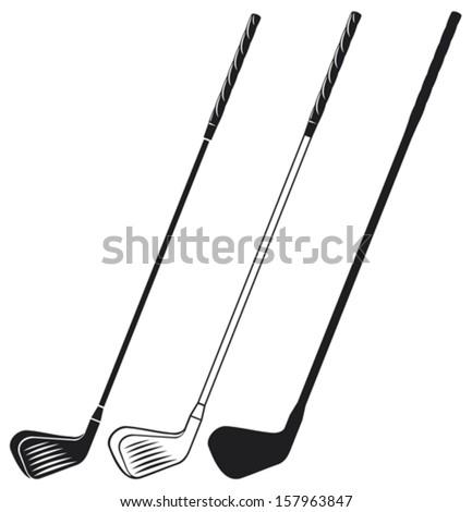 golf club - stock vector