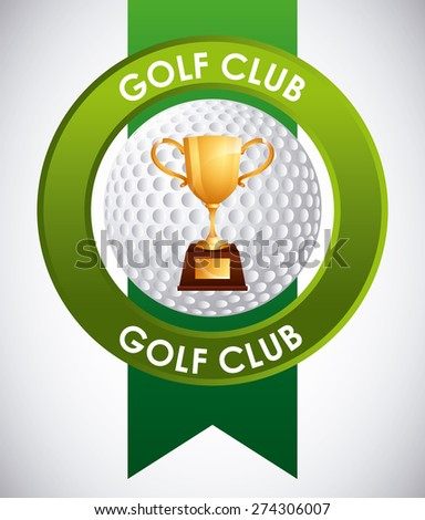 golf club emblem design, vector illustration eps10 graphic  - stock vector
