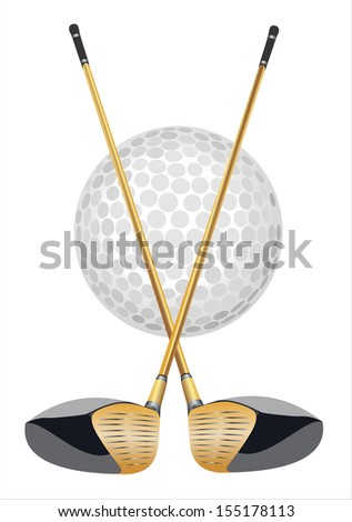 golf club icon - stock vector