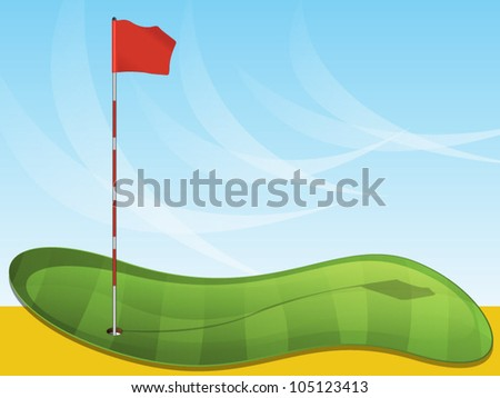 Golf Flag Background - stock vector