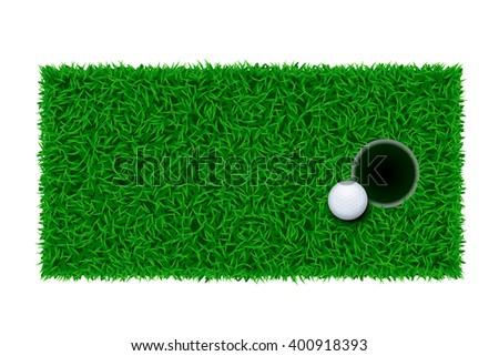 golf green grass - stock vector