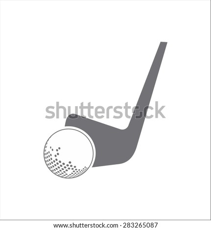 Golf icon - stock vector