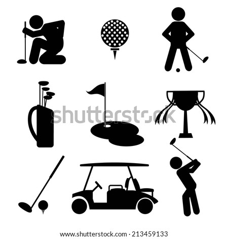 Golf Icon Set Vector Illustration - stock vector