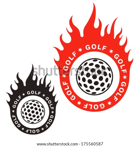 Golf. Isolated logo on white background - stock vector