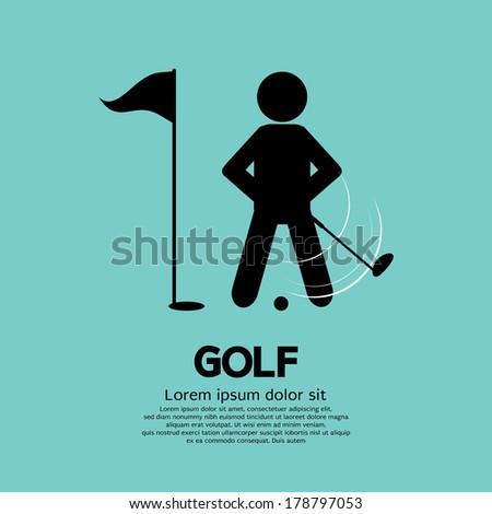 Golf Player Vector Illustration - stock vector
