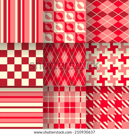 Golf red backgrounds. Seamless pattern background with Valentine's color. Vector illustration. Pattern Swatches made with Global Colors - quick, simple editing of color - stock vector