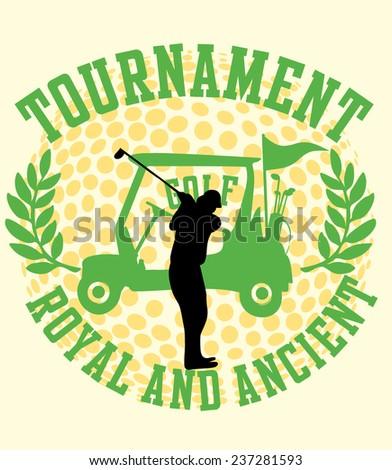 golf sports team vector art - stock vector