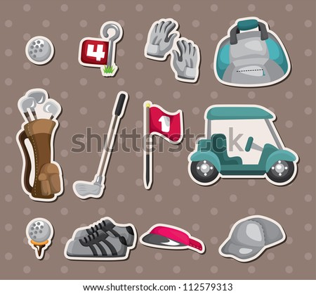 golf stickers - stock vector