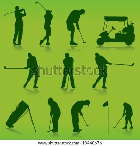 golf vector - stock vector