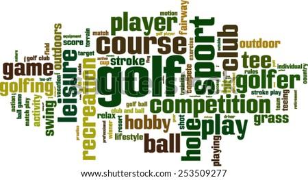 Golf word cloud concept. Vector illustration - stock vector