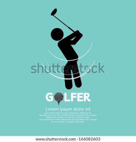 Golfer Vector Illustration - stock vector