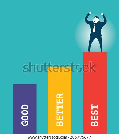 Good Better Best - stock vector