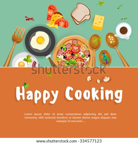 good cooking background - stock vector