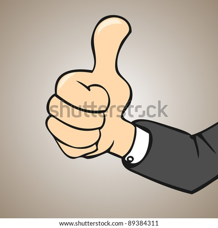 good hand thumb up - stock vector