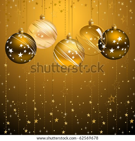 good-looking dark backdrop with five balls - stock vector