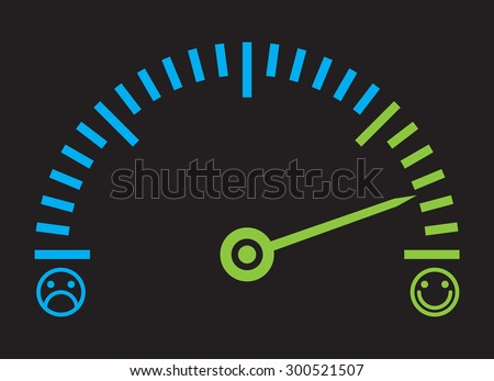 Good mood - measure your happiness or satisfaction level - stock vector