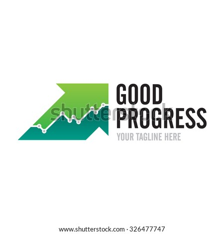 Good Progress Logo - stock vector