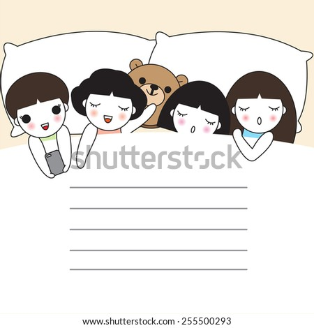 Good Rest paper note illustration set - stock vector