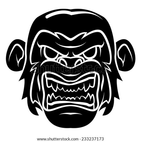 Gorilla - stock vector