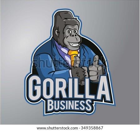 Gorilla - stock vector