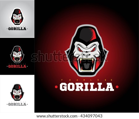 Gorilla.Gorilla face. Gorilla head. - stock vector