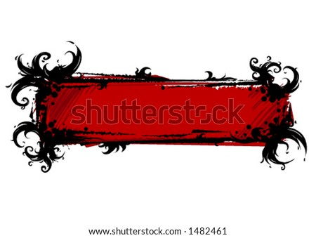 Gothic banner - stock vector